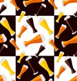 beer seamless pattern vector image