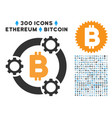 bitcoin pool collaboration flat icon with clip art vector image