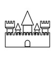 castle black color icon vector image