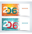 Complimentary ticket to a Christmas and New Year vector image