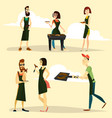 grill party people icon set vector image