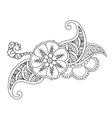 Mendie floral tattoo design isolated vector image