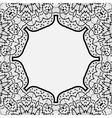 Ornamental frame border in indian mandala style vector image