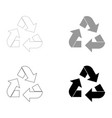 recycling arrows in a circle the black and grey vector image
