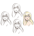 Woman Wearing Glasses vector image