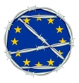 Yellow stars on blue background symbol of European vector image