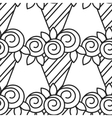Black and white seamless pattern with roses for vector image vector image