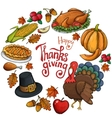 Round frame with Thanksgiving icons vector image