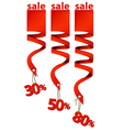 Sale bands vector image vector image