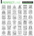 ecology technology outline concept symbols vector image