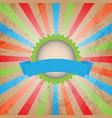 vintage sunburst background vector image