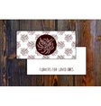 Card template with seamless pattern and floral vector image