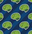 seamless brain pattern vector image