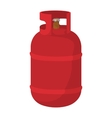 Red gas bottle cartoon icon vector image