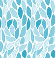 Seamless Blue Leaves Pattern vector image vector image