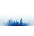 cityscape with fade blue vector image