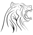 ink hand drawn bear head vector image