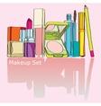 colorful makeup kit vector image