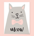 cute cat t-shirt print design vector image