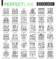 ecology technology outline concept symbols vector image