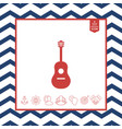 guitar icon vector image