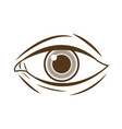 hand drawing eye human expression image vector image