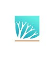Herbal medicine or cosmetic components logo vector image