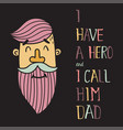 hero dad five vector image