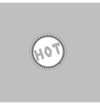 Hot computer symbol vector image