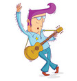 musician in old fashion vector image