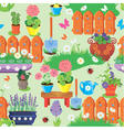 Seamless pattern with spring and summer flowers a vector image