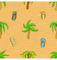 Summer related seamless pattern vector image