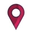 pin pointer location isolated icon vector image