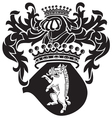 heraldic silhouette No38 vector image