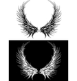 Silhouette of wings vector image