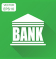 bank building icon business concept bank vector image