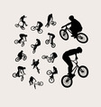 Biker Silhouettes vector image