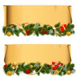Christmas Scroll Set 1 vector image