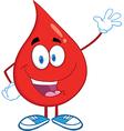 Drop of blood cartoon character vector image