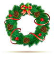 green wreath vector image