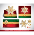Greeting cards with golden ornate snowflake vector image