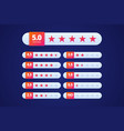 Hotel or site or product rating with colorful star vector image