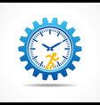 Man running with time concept vector image