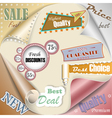 Retro and vintage paper sale elements eps10 vector image