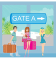 Travelers at the airport vector image