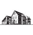 cottages country houses vector image