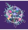 Let love Bloom floral card Colorful Valentine vector image