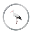 Stork icon in cartoon style isolated on white vector image