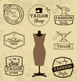 Labels Badges and Signs for Tailor Shop vector image