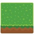 Texture for platformers pixel art - ground vector image
